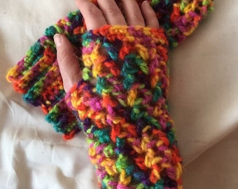 Fingerless gloves – crochet – gloves – arm warmers – texting gloves – hand warmers