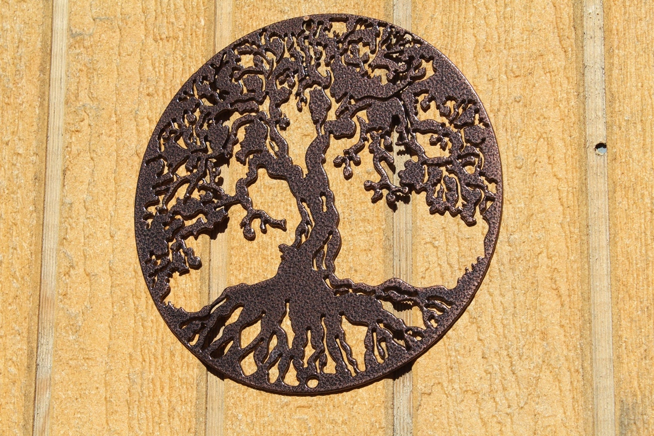 Attractive Tree Of Life Metal Wall Art Decor Elaboration - The Wall ...