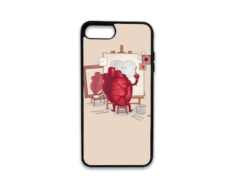 Heart Drawing iPhone Case