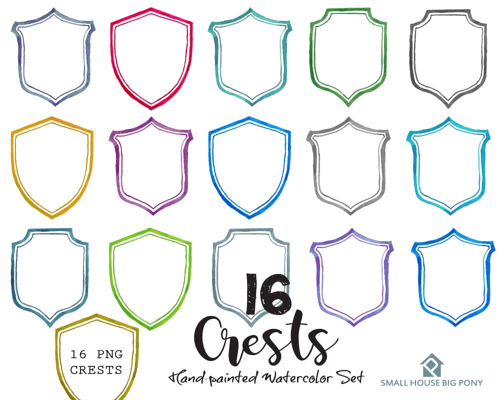Digital Clipart- Crest Clipart,Shield Clip art, Clipart, wedding ...