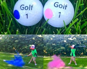 Golf Ball Gender Reveal, Gender Reveal Golf Balls