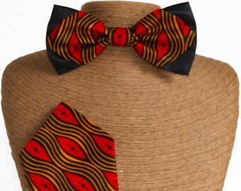 Bow tie Wax slim & red handkerchief