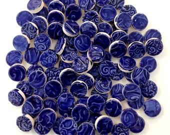ROYAL BLUE CIRCLE Mosaic Tiles