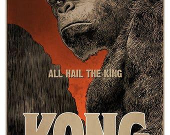 KONG - Skull Island movie poster - full colour art print