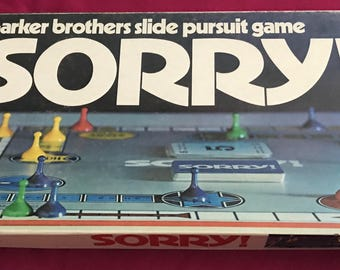 Vintage 1972 Sorry Board Game