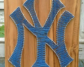 NY Yankees signo de cadena arte de uñas