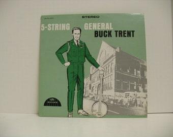 General Buck Trent 5-String Promo DJ LP Record Album on Boone, Rare Banjo Bluegrass
