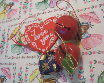 jingle bells and heart ornaments