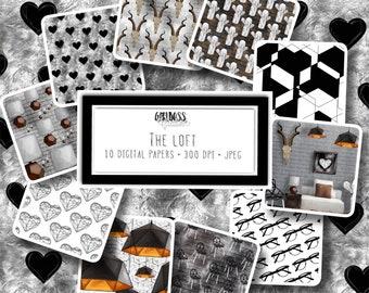 The Loft digital paper pack