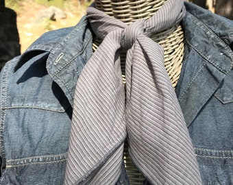 Gray Stripe Cowboy Scarf