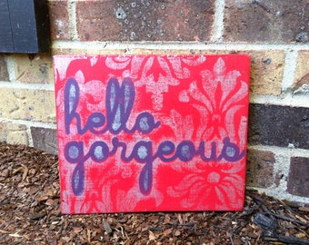 Hand-painted, vintage style sign