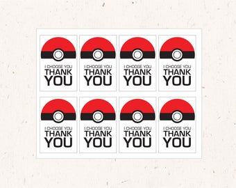 Instant Download - I Choose You thank You favor tags