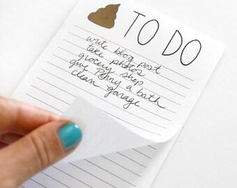 Back To School - Teacher Gift - To Do Notepad - Stocking Stuffer