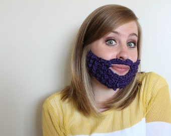 The Girly Beard - Pink or Purple (Child/Adult)