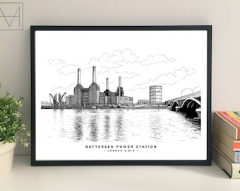 Battersea Power Station giclee print