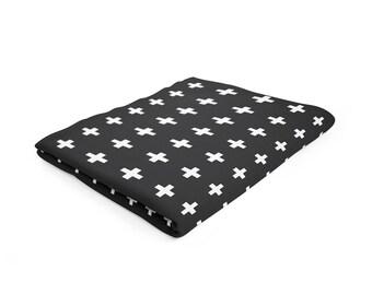Swiss Cross Jersey Blanket