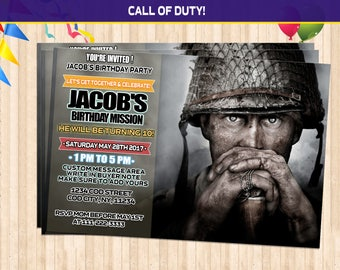 Space jam invitation space jam birthday invitation space jam call of duty ww2 birthday invitations call of duty birthday call of duty party filmwisefo