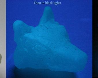 Spirit Wolf II - Glow-in-the-dark wolf head