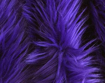 "Purple faux fur 2"" pile, purple fur, purple fur fabric craft squares, purple fursuit fur, royal purple shag fur, purple fur"