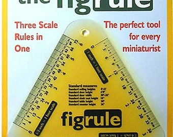 Dollhouse Miniature Scale Ruler / Converter - Automatic Measuring Tool -  Size Converter - The Fig Rule