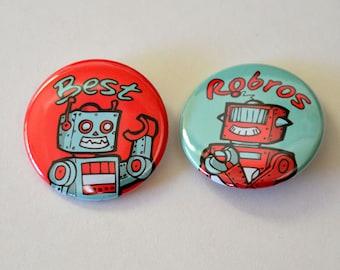 Best Robots 2 Pinback Buttons