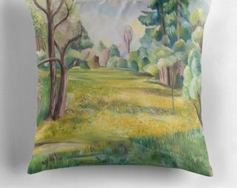 Beautiful Throw Cushion Featuring The Painting 'The Wild Garden'