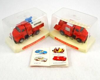 Vintage Guisval Die Cast Fire Trucks