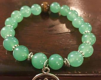 Green Lotus Flower Bracelet