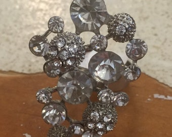 Round Crystal Cluster ring