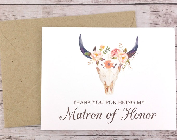Thank You For Being My Matron of Honor Card (FPS0010)