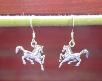 Prancing Horse Earrings Equestrian Jewelry,Galloping Horse Earrings