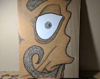 Cardboard Art / Wall Art - Monty