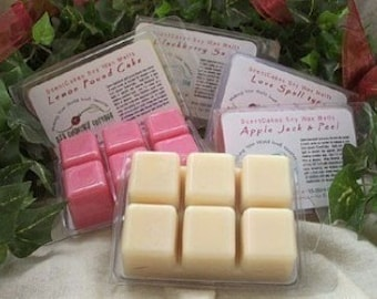 SOY TARTS/MELTS - Highly Scented - Over 125 Scents - Vanilla, Cinnamon, Apple, Pumpkin, Fresh, Clean, Citrus, Floral, Fruit, Spice