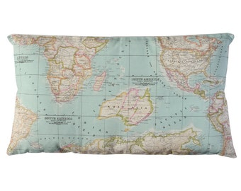 World Map Pillow cover. Select big sizes here.