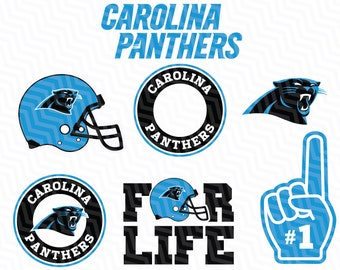 Carolina Panthers SVG File, American Football, Football Svg files, Cricut, Silhouette Cut File, Vector Cut File, Logo, Instant Download