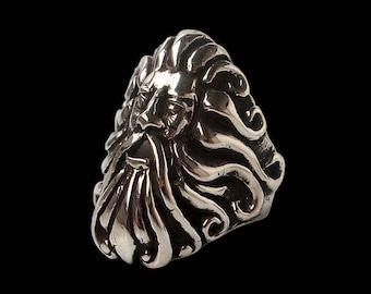 Poseidon ring - Sterling Silver Poseidon ring - God of the Sea - Master of Atlantis - ALL SIZES