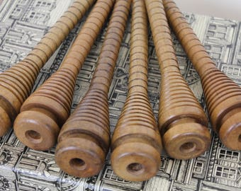Vintage Wooden Spools/ Bobbins/Craft Supplies and Tools/ Fiber & Textile Art Supplies/ Decorative (010C)