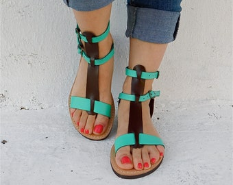 Gladiator sandals, Comfortable sandals, Leather sandals, flat sandals, Greek sandals, Boho Sandals, Summer sandals, Strappy sandals