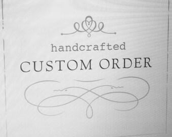 Custom stained glass order 50% Deposit for Bobbi