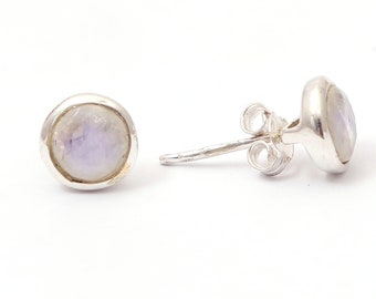Rainbow moon 92.5 sterling silver earring