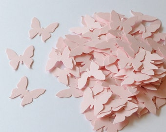 Pink Paper Die Cut Butterflies, Table Decoration, Wedding Confetti Butterfly, Die Cuts for Scrapbooking or Cardmaking, Pink Butterflies