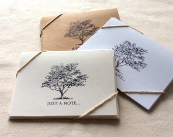 6 Blank Tree Card Set, Blank Note Cards, Tree Notecards, thank you cards, greeting cards, botanical cards