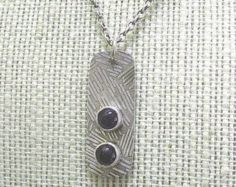 Amethyst and Sterling Silver Pendant Necklace