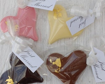 Belgian Chocolate Heart Wedding Favours by So Sweet