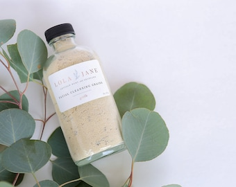 Natural Face Wash/Face Cleanser/Facial Cleansing Grains/Gentle/Exfoliate/Soap Free/Natural Skincare