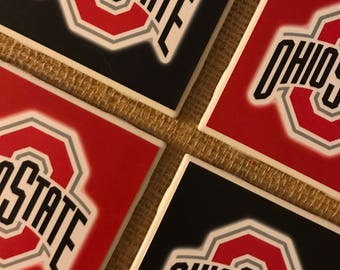 OHIO STATE (Photo) Coasters - Christmas, Anniversary Gifts, Valentines Day Gift, Baby/Bridal Shower, Mother's/Father's Day, Birthday Gift