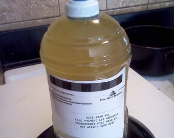 32 Oz Rice Bran Oil to make soaps, lotions, perfumes, Cosmetics (buy 3 get 1lb free) form of one gallon