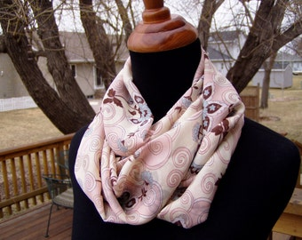 Infinity Scarf, Eternity Scarf, Loop Scarf, Fashion, Soft Rayon Print