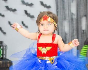 Infant Wonder Girl Tutu, infant Photo Shoot Costume, Infant Wonder Girl Costume, Infant Super Hero Costume