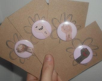 Feminist Pin Badges Gift / Feminist Button Badge / Girl Power Pin